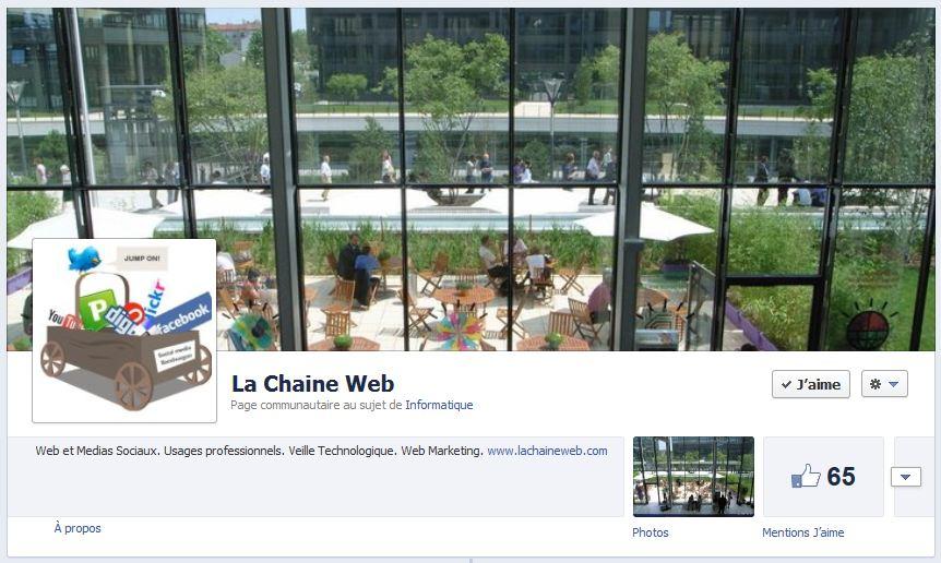 Exemple de page pro sur Facebook