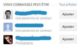 Dossier Google Plus proposition contacts