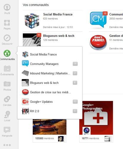 Communautés Google Plus - comment trouver des contacts