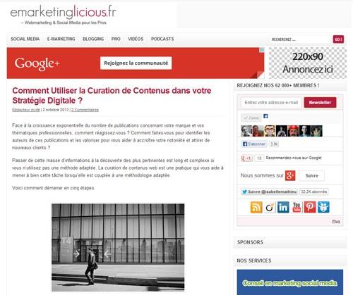 Curation de Contenus et Stratégie Digitale : vous faites quoi ?