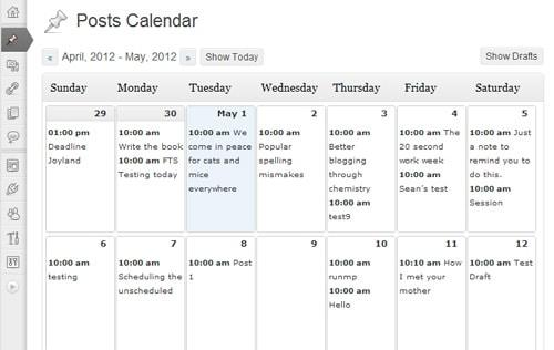 Planifier les publications sur un blog avec le plugin WordPress Editorial Calendar