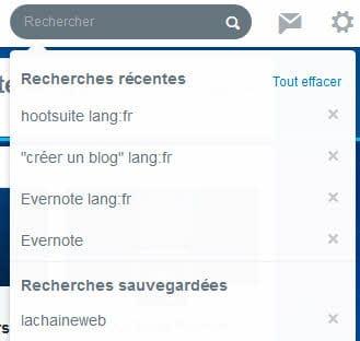 comment enregistrer une recherche twitter
