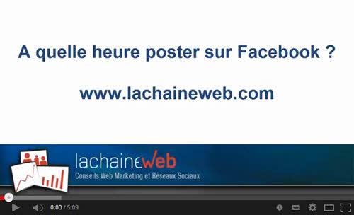 [Video] A quelle heure poster sur votre page Facebook