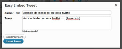 Easy Embed Tweet plugin pour WordPress et ClickToTweet