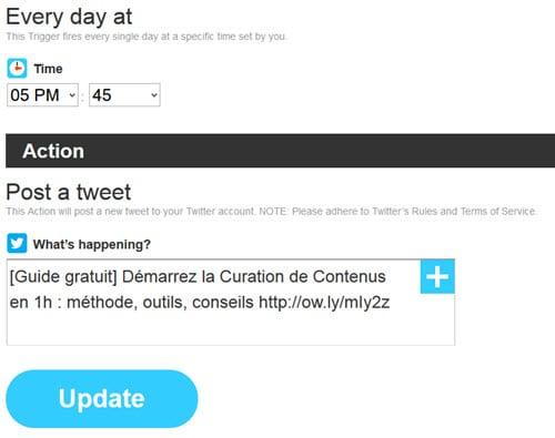 Utiliser IFTTT avec Twitter