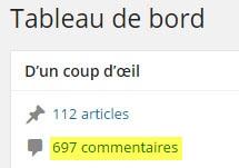 nombre de commentaires sur blog wordpress