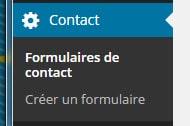 formulaire contact pour wordpress