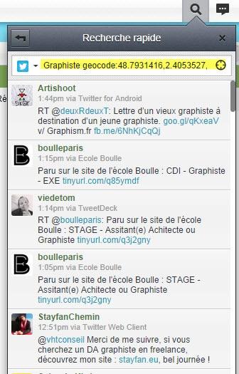 Comment faire une recherche géolocalisée dans Twitter avec Hootsuite