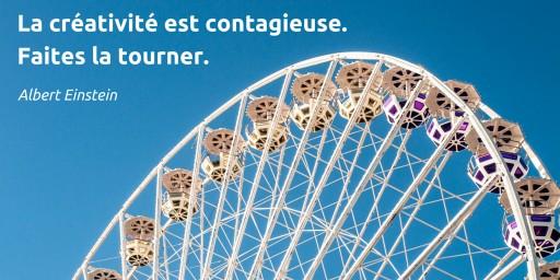 La créativité est contagieuse. Faites la tourner.